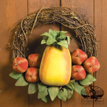 Pineapple and Apples Vine Wreath designed by Tish Bachleda