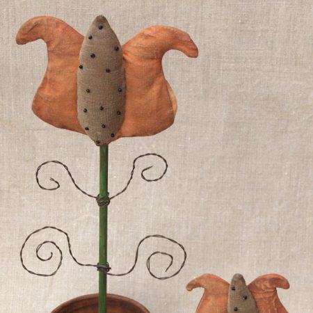 Potted Fancy Tulip folk art design by Tish Bachleda