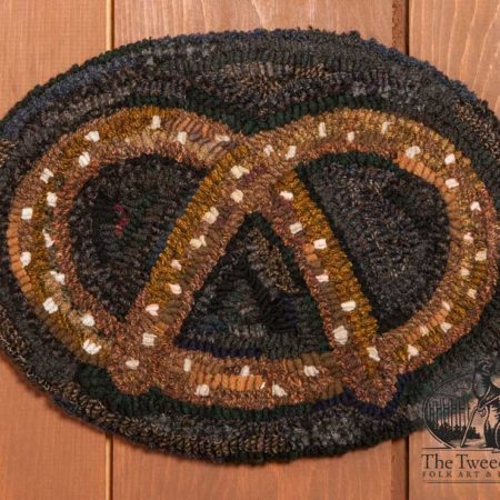 Pretzel Chairpad designed and hooked by Tish Bachleda