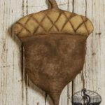 Quilted Cap Acorn Ornament Design by Tish Bachleda