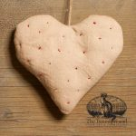 Random Stitched Heart Ornament designed by Tish Bachleda