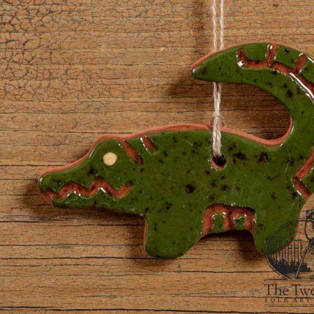 Alligator Redware Ornament design by Bachleda Tulipware