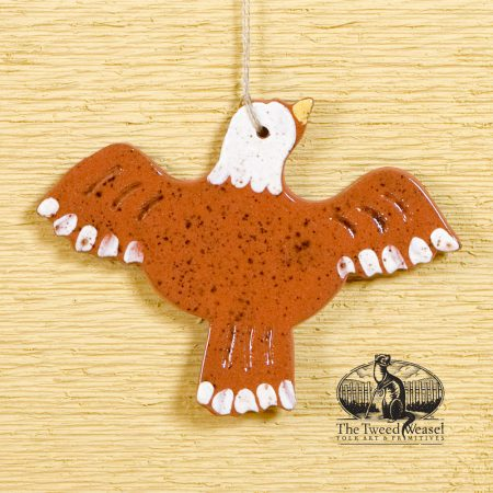 American Bald Eagle - a redware ornament designed by Bachleda Tulipware