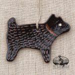 Black Dog - a redware ornament by Bachleda Tulipware