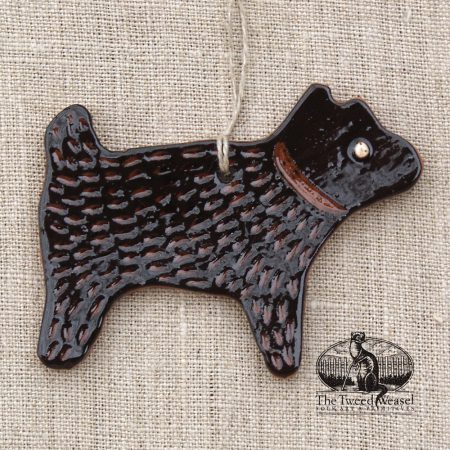 Black Dog - a redware ornament by Bachleda Tulipware