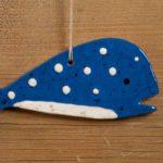 Blue Whale Redware Ornament Design by Bachleda Tulipware