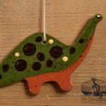 Dinosaur Redware Ornament design by Bachleda Tulipware