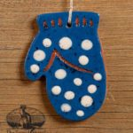 Dotted Mitten Redware Ornament design by Bachleda Tulipware