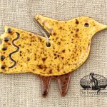 Folky Bird - a redware ornament designed by Bachleda Tulipware