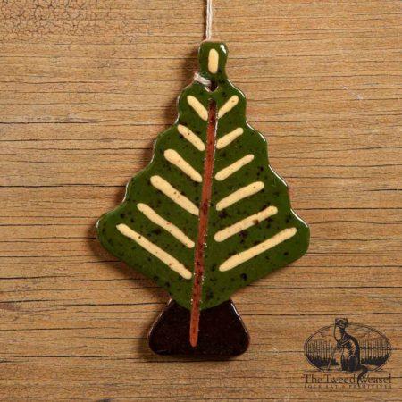 Gold Needle Tree Redware Ornament designed by Bachleda Tulipware