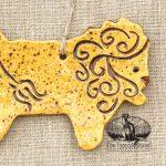 Lion - a redware ornament designed by Bachleda Tulipware