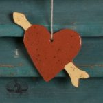 Love Struck Heart Redware Ornament design by Bachleda Tulipware