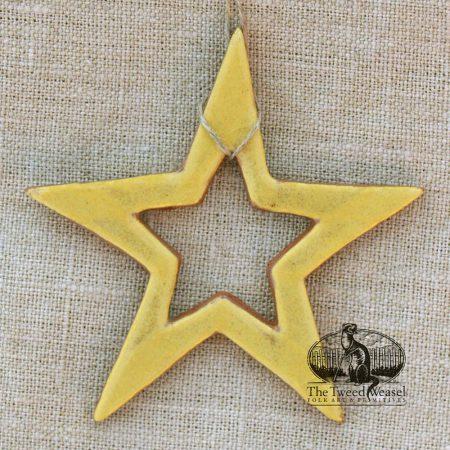 Open Star - a redware ornament designed by Bachleda Tulipware