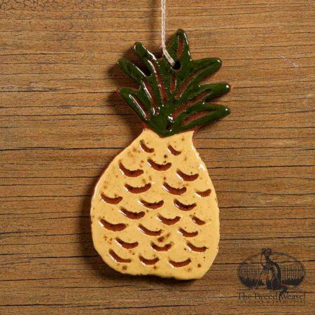 Pineapple Redware Ornament design by Bachleda Tulipware