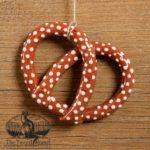 Pretzel Redware Ornament design by Bachleda Tulipware