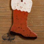 Santa Boot Redware Ornament design by Bachleda Tulipware