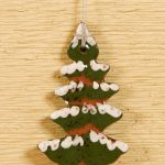 Snowy Tree - a redware ornament created by Bachleda Tulipware