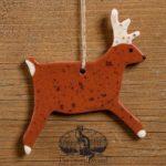 Stag Redware Ornament design by Bachleda Tulipware