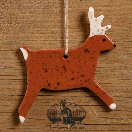 Stag Redware Ornament design by Bachleda Tulipware