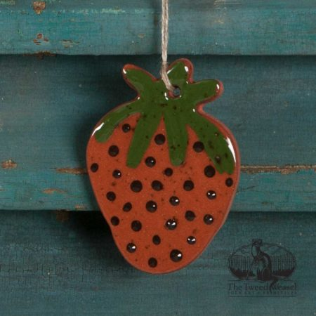Strawberry Redware Ornament design by Bachleda Tulipware