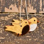 Tiny Bird - a redware ornament designed by Bachleda Tulipware