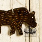 Walking Bear - a redware ornament designed by Bachleda Tulipware