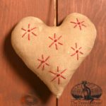 Redwork Heart Ornament Design by Tish Bachleda