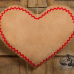 Rick Rack Door Heart design by Tish Bachleda