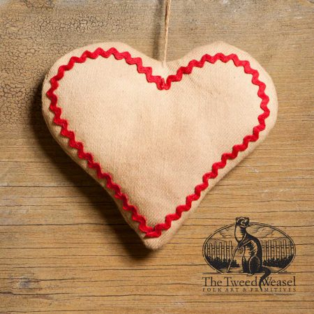 Rick Rack Heart Ornament design by Tish Bachleda