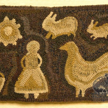 Rise and Shine rug designed and hooked by Tish Bachleda