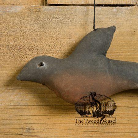 Fabric primitive robin ornament design by Tish Bachleda
