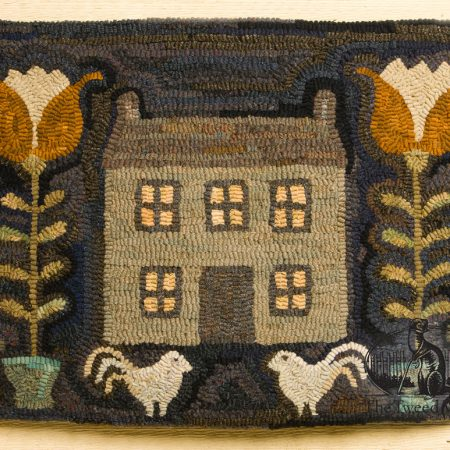 Rooster's Hill - hooked rug design by Tish Bachleda