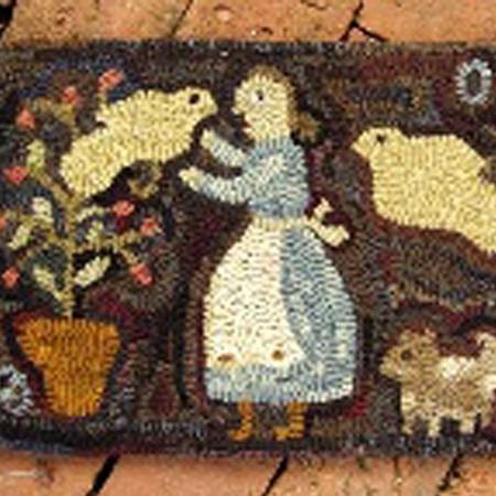 rugs-hooked-in-her-garden