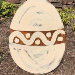 Rusted Steel Easter Egg Standing Cream Design by Mike and Tish Bachleda