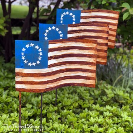 Rusted Steel Garden Flag Design by Mike and Tish Bachleda