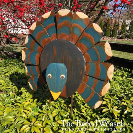 Rusted Steel Gobbler Design by Mike and Tish Bachleda