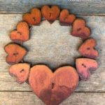 Rusted steel Hearts Wreath Design by Mike and Tish Bachleda