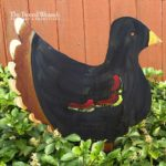 Black Rusted Steel Hen Design by Mike and Tish Bachleda