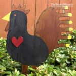 Black Rusted Steel Rooster Heart Design by Mike and Tish Bachleda