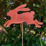 Rusted Steel Summer Bunny Design by Tish and Mike Bachleda