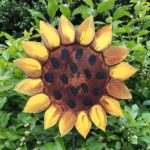 Rusted Steel Large Sunflower Design by Mike and Tish Bachleda