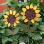 Rusted Steel Small Sunflower Design by Mike and Tish Bachleda