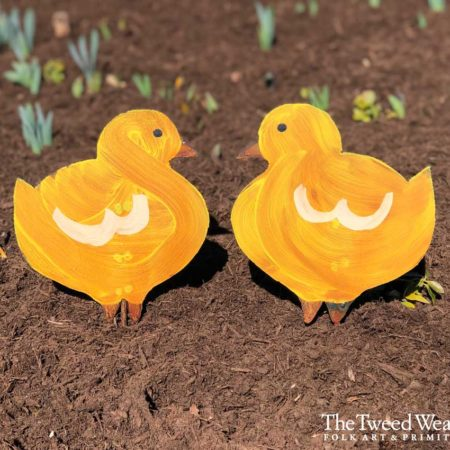 Rusted Steel Yellow Peep Design by Mike and Tish Bachleda