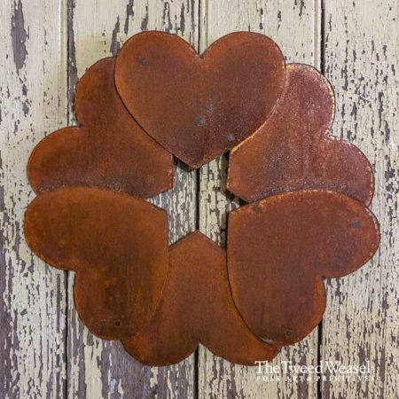 Rusted Steel Six of Hearts Design by Tish and Mike Bachleda