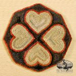 Sailor Valentine Hearts Chairpad designed and hooked by Tish Bachleda