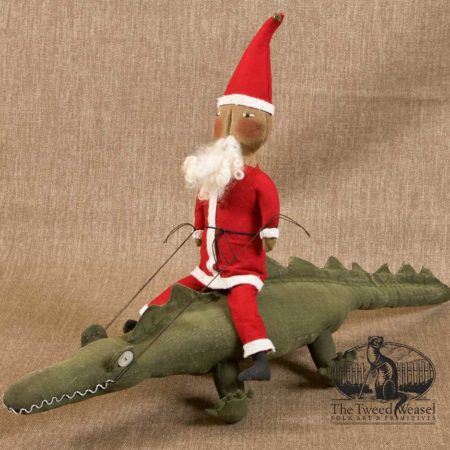 Santa on Alligator design by Tish Bachleda
