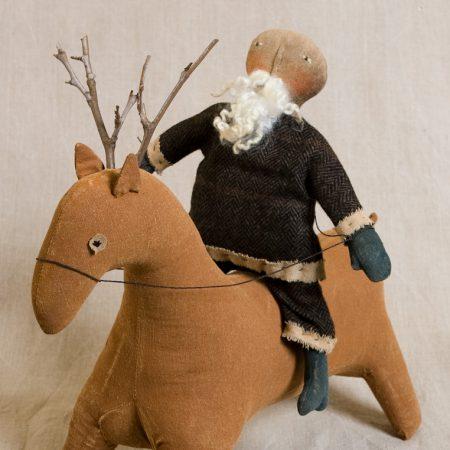 Santa on Reindeer design by Tish Bachleda
