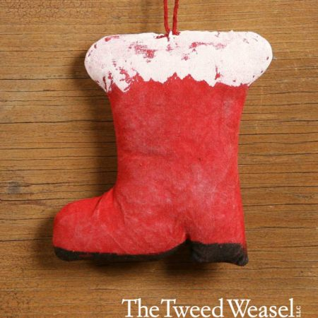 Santa Boot Ornament Design by Tish Bachleda