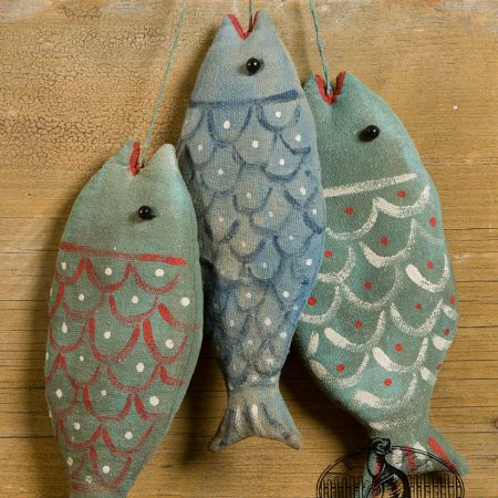 Three scalloped fish ornament designs by tish Bachleda