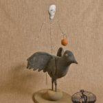 Skeleton on Crow Design by Tish Bachleda